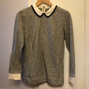 J. Crew cotton and silk top
